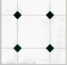 88 x Vinyl Floor Tiles - Self Adhesive - Kitchen, Stick BNIB White tiles Effect