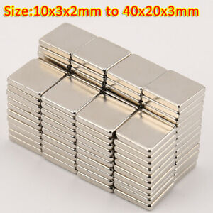 Strong Magnets 10x3x2mm to 40X20X3mm Neodymium Block Small Thin rectangle Magnet