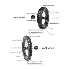 Front 70/100-17 + Rear 90/100-14 Wheels Rims Tires For Dirt Pit Bikes SSR125 RFZ