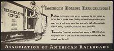 Refrigerator Express Blotter Advertisement, Association of American Railroads
