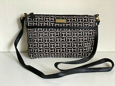 NEW! TOMMY HILFIGER EAST WEST BLACK MESSENGER CROSSBODY SLING BAG PURSE $69 SALE