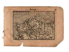 C1600'S ATLAS MINOR, MERCATOR JODOCUS HONDIUS SERIES,PORTUGAL,PORTUGALLIA