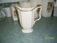 "Lehox (24 Karet Gold Trim) Pitcher 6.3"" high"