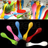 6x Spoon Fork Camping Hiking Utensils Spork Combo Travel Gadget Cutlery