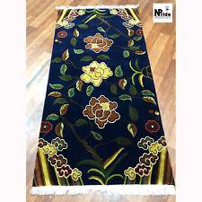 Tibetan Wool Area Rug - Carpet - Runner - 100 knot - 90x180cm Flower Blue Beige