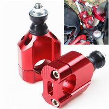 "2 Pcs 1 1/8"" 28mm Motorcycles ATV Handlebar Mount Riser Clamp CNC Red Universal"