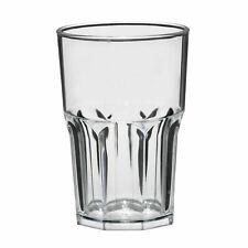 10 Pack Reusable Plastic Glassware Drinkware Tumbler Cocktail 400ml Drinks Glass