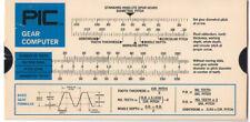 Vintage Slide Rule PIC Gear Computer