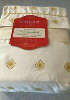 Opalhouse Twin/XL Twin Performance Sheet Set Ivory Gold Medallion 100% Cotton