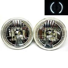 "97-17 Jeep Wrangler JK/TJ/LJ/CJ 7"" LED Glass Diamond Headlights Head Lamps Pair"