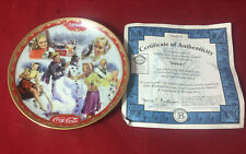 Coca Cola Days Calendar Collectors Plate By Bradford Exchange1999 January