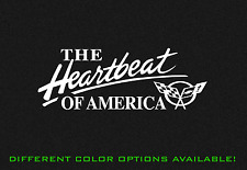 "Heartbeat of America! Corvette Flag Sticker Decal Sticker 14"" Chevy Chevrolet"