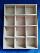 WOODEN 12 COMPARTMENT BOX TRAY