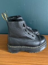 Doc Martens Sinclair Flatform Zip Leather Boots In Tumbled Black Size 5