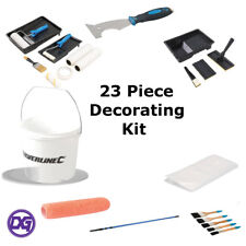 23 Piece Decorating Kit. inc - Brushes,Rollers,Trays,Paint Pads, Dust Sheet etc.