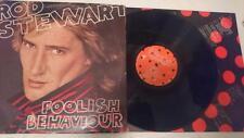 Vinyl LP Album - Rob Stewart - Foolish Behavior  WB MX197151 Australia 1980