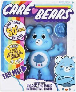CARE BEAR GRUMPY BEAR BLUE INTERACTIVE 50+ REACTIONS