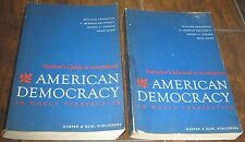 (2) book lot Student Guide & Instructor's Manual American Democracy 1967