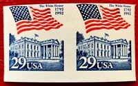 US Stamps SC#2609a 29 cents Flag over White House. Pair Imperf. CV:$15