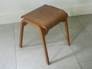 Stunning Vintage Wooden School Science Lab Classroom Stool FREE P&P