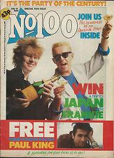 No1 UK 100th Magazine 1985 Depeche Duran George Michael Poster New Wave Rare HTF