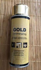 Gold Chromespray 200 ml Decospray Aryllack Dekoration Sprühlack