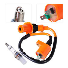 New Racing Ignition Coil + Spark Plug A7TC Fit Scooter ATV Moped Go Kart GY6