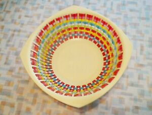 Vintage Woven Plastic Bowl From Hong Kong, S & S Arts And Crafts, Retro Kitchen