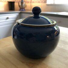 DENBY Imperial Blue lidded bowl sugar