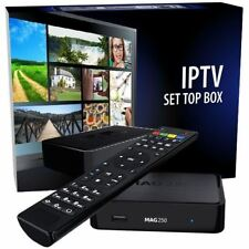 Genuine IPTV MAG 250 Box + 12 Month Premium HIGH FRAME RATE Channels