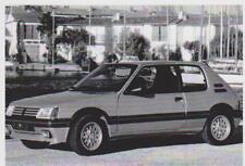 carte postale - PEUGEOT 205 GTI 1,6L 115 CH DE 1986 A 1992 - 10X15 CM