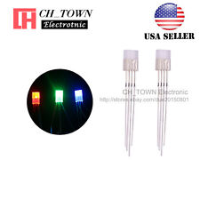 100pcs 2x5x7mm 4pin Common Cathode Diffused Rgb Tri Color Rectangular Led Diodes