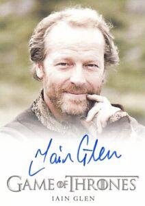 Game of Thrones Season 2 Iain Glen as Ser Jorah Mormont Auto Card