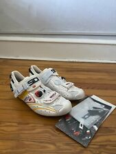 Sidi Ergo 2 Carbon Pearl White Yellow Size 43 Road Cycling Shoe