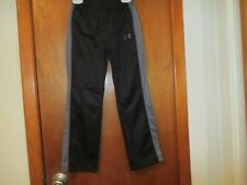 UNDER ARMOUR JOGGING PANTS BLACK/GRAY STRIPE SIZE 7 100% POLYESTER