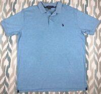 US Polo Assn Men's Short Sleeve Polo Shirt Button Front Classic Fit Size XL
