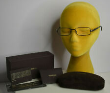 NEW Tom Ford TF5014 B5 Black Brown 52MM Italy Rx Eyeglass Frames Logo Box Papers
