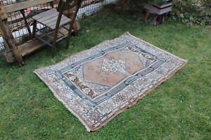 """Vintage Handmade Turkish Oushak Area Rug 5'x3'5"""""""