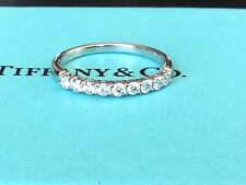 Tiffany & Co Platinum Diamond Wedding Band 2.2 MM .27 CT RETAIL $3900 Size 4.5