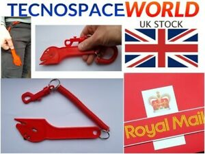Sharp Moving Edge Safety Knife Box Opener Seat Belt Cutter Wrap Tape Cutter UK