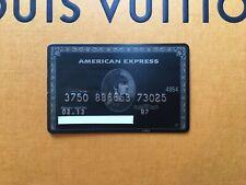 GENUINE American Express AMEX BLACK CARD CENTURION CARD NO CHIP RARE EXPIRED