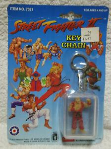 Vintage NEW Street Fighter II Ken Figure Keychain Key Chain Capcom Placo Toys