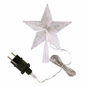 LED Weihnachtsbaumspitze Christbaumspitze  Stern 10 LEDs, 18 x 18 cm LEX