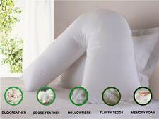 Duck Goose Memory Foam Fluffy Orthopaedic Back & Neck Support V Shaped Pillow