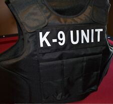 K-9 UNIT TAGS // 3A SIZE LARGE Body Armor Bullet Proof / Stab Proof  Vest NEW!!!
