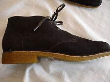 HUSH PUPPIES NORCO Dk Brown Suede Chukka Boot Shoes Mens Sz 10 M NIB