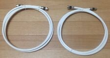 12 Ft,Feet White Rg6 Digital HD Coax/Coaxial Satellite TV Cable (lot of 2)