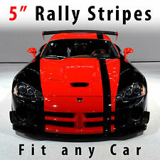 "Racing stripes 5"" solid Rally stripe fit any car Pre Cut"