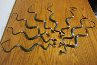 "8 NEW BLACK RUBBER SNAKES 24"" TOY REPTILE FAKE PRETEND SNAKE GAG GIFT"