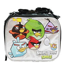 Angry Birds Space Canvas Black Insulated Lunch Bag